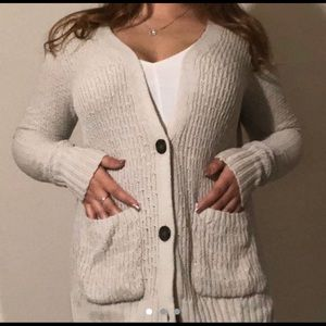 Light Colored Hollister Cardigan